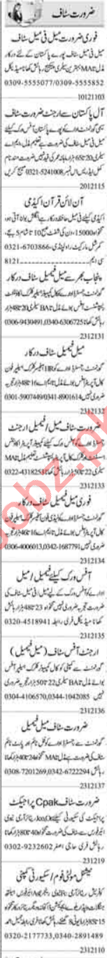 Computer Operator & Admin Officer Jobs 2021 in Islamabad