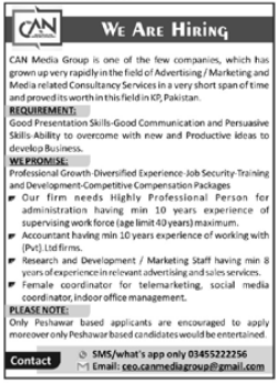 Can Media Group Marketing Consultancy Jobs 2021