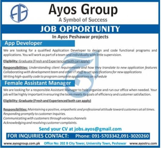 Ayos Group IT Staff Jobs 2021