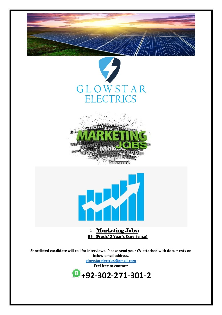 Glow Star Electrics Private Limited Islamabad Jobs 2021