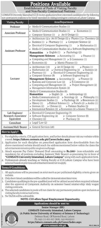 Comsats University Islamabad Teaching & Non Teaching Jobs 20