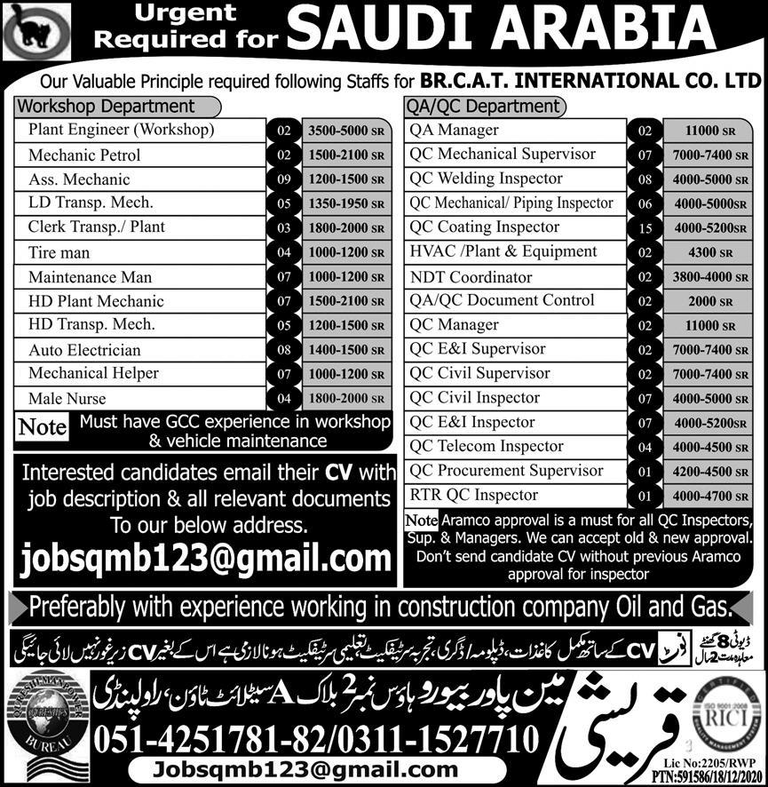 BR Cat International Company Limited Jobs in Saudi Arabia