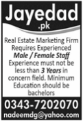 Real Estate Marketing Firm Jobs 2021 in Lahore