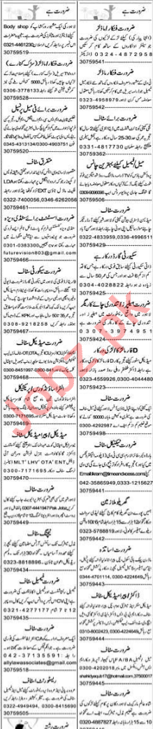 Express Sunday Lahore Classified Ads 24 Jan 2021