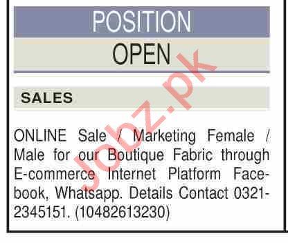 Telemarketing Executive & Sales Officer Jobs 2021 in Karachi