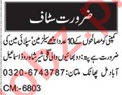 Salesman & Supply Man Jobs 2021 in Multan