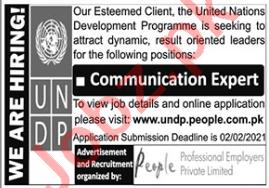 UNDP Jobs 2021 for Communication Expert