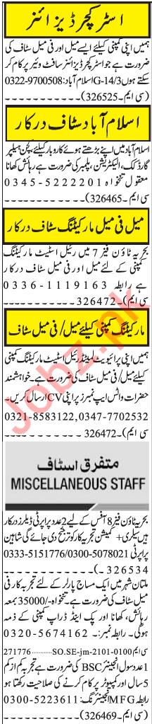 Structure Designer & Salesman Age Jobs 2021 in Islamabad