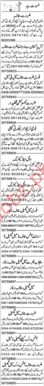 HR Officer & Account Manager Jobs 2021 in Multan