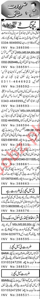 Subject Specialist & Teacher Jobs 2021 in Peshawar
