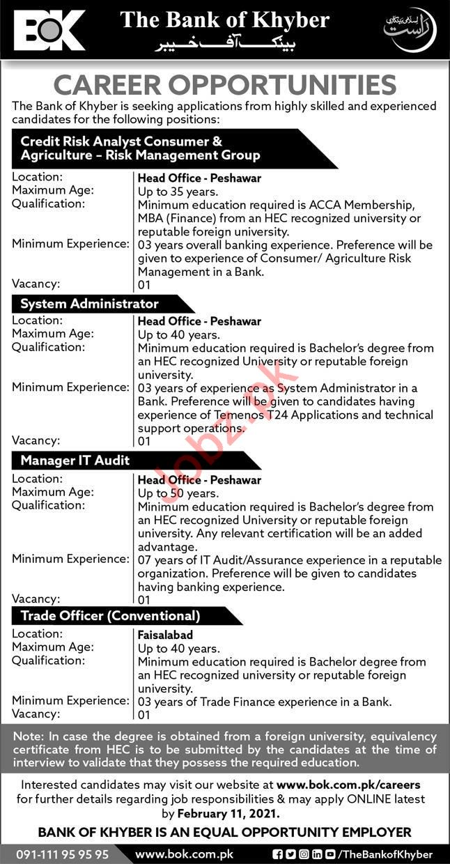 System Administrator & Manager IT Audit Jobs 2021