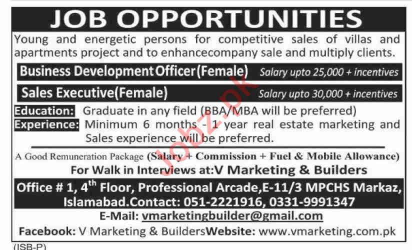 Business Development Officer & Sales Executive Jobs 2021