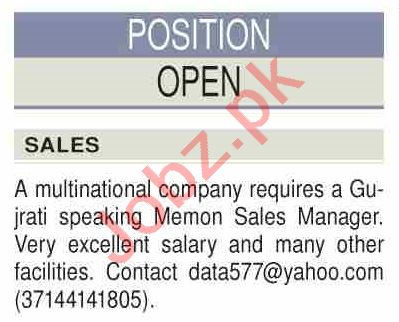 Sales Manager & Marketing Manager Jobs 2021 in Karachi