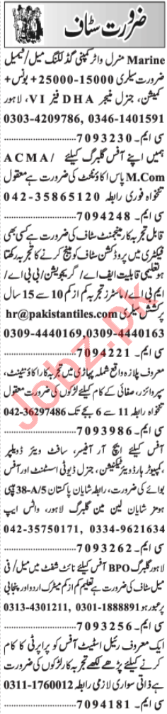 Assistant Supervisor & Branch Manager Jobs 2021 in Lahore
