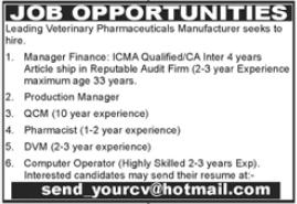 Pharmaceutical Company Jobs 2021 in Islamabad