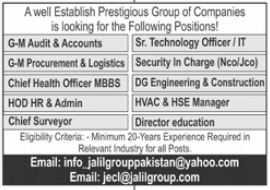 Jalil Group of Companies Jobs 2021 in Islamabad