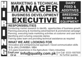 Marketing and Technical Manager Jobs 2021 in Rawalpindi