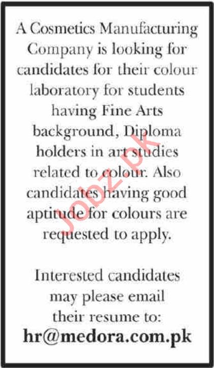 Color Developer & Chemist Jobs 2021 in Karachi