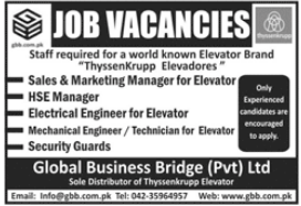 Global Business Bridge Private Limited Management Jobs 2021