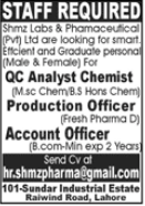 Management Jobs in Shmz Lab & Pharmaceutical Private Limited
