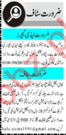 Information Officer & Lady Teacher Jobs 2021 in Peshawar