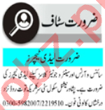 Lady Teacher & Subject Specialist Jobs 2021 in Peshawar