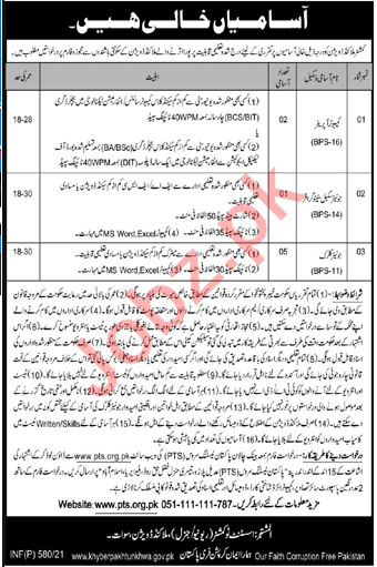 Commissioner Malakand Division Jobs 2021 for Junior Clerk