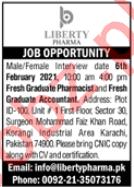Liberty Pharmaceuticals Karachi Jobs 2021 for Pharmacist