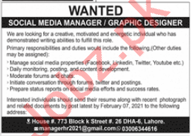 Social Media Manager & Graphic Designer Jobs 2021