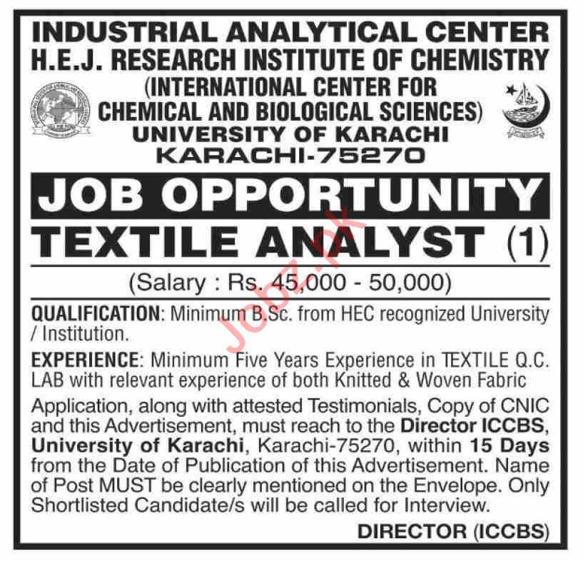 International Center for Chemical & Biological Sciences Jobs