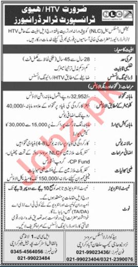 National Logistics Cell NLC Karachi Jobs 2021 for Drivers