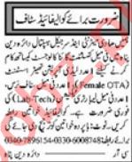 Female Gynecologist & OT Technician Jobs 2021 in Multan