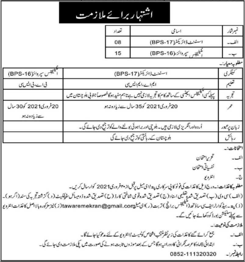 Headquarter Frontier Core Turbat Balochistan Jobs 2021