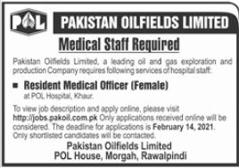 Pakistan Oilfields Limited POL Jobs 2021