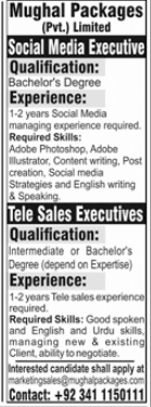 Mughal Packages Private Limited Jobs 2021