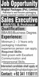 Mughal Packages Jobs 2021 For Sales Executives