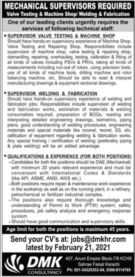 DMK Consultancy International Jobs 2021 in Karachi