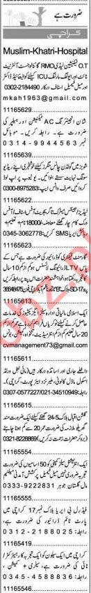 Express Sunday Karachi Classified Ads 7th Feb 2021