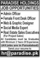 Paradise Holdings Jobs 2021 For Management Staff