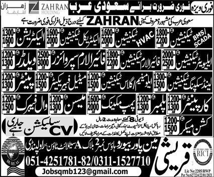 Zahran Holding Company Jobs 2021 in Saudi Arabia
