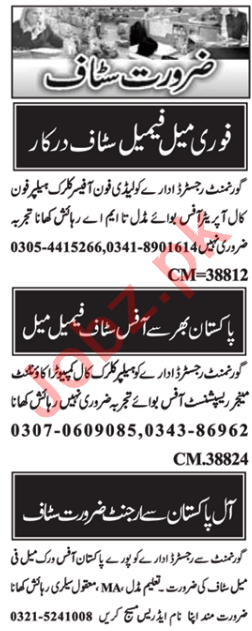 Data Entry Operator & Admin Manager Jobs 2021 in Islamabad