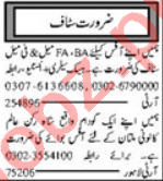 Branch Manager & Marketing Staff Jobs 2021 in Multan