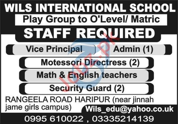 WILS International School Haripur Jobs 2021 for Teachers
