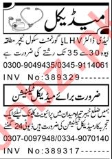LHV & Medical Technician Jobs 2021 in Peshawar