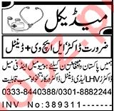 Lady Dental Doctor & Medical Officer Jobs 2021 in Peshawar