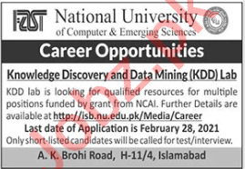 Knowledge Discovery & Data Mining KDD Lab Jobs 2021
