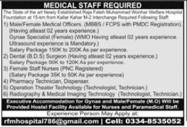 Medical Staff Jobs 2021 in Karachi