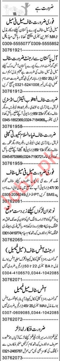 Express Sunday Faisalabad Classified Ads 14th Feb 2021