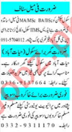 Mashriq Sunday Classified Ads 14th Feb 2021 for Teaching