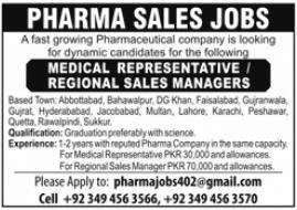 Medical Representative & Regional Sales Managers Jobs 2021